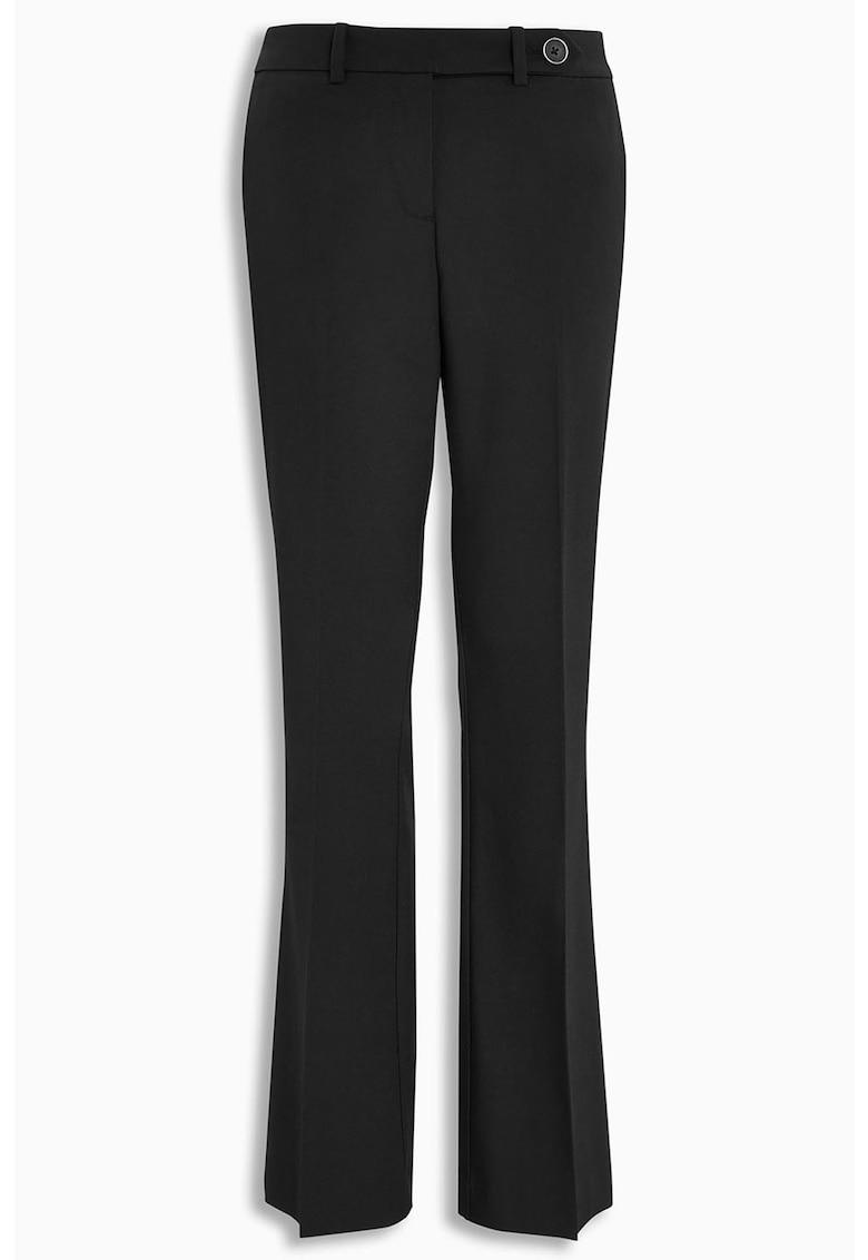 Pantaloni eleganti bootcut cu buzunare