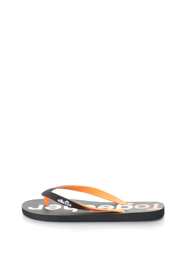 Papuci flip-flop cu imprimeu text Diego de la ELLESSE