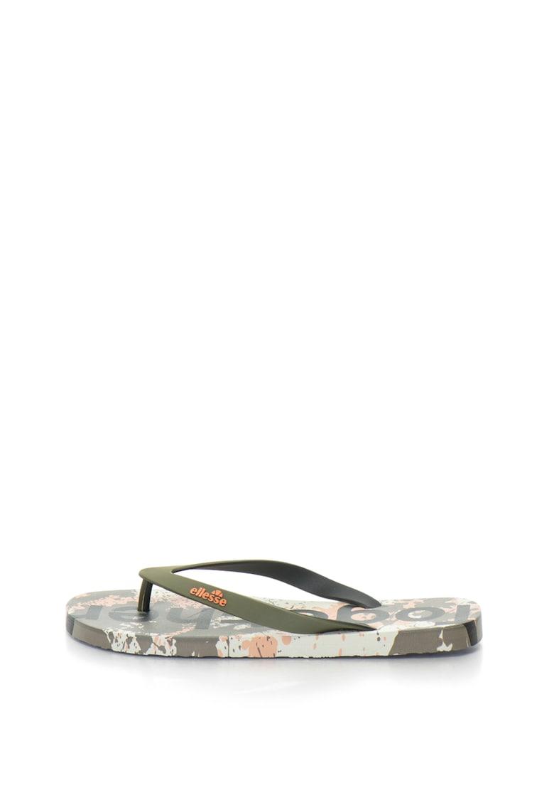 Papuci flip-flop cu imprimeu camuflaj Elise