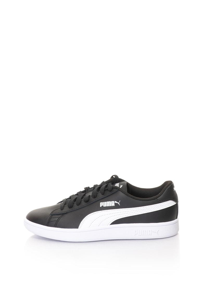 Puma Pantofi sport unisex cu garnituri de piele Smash v2