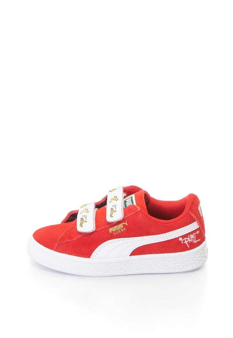 Puma Pantofi sport de piele intoarsa – cu benzi velcro Puma x Minions
