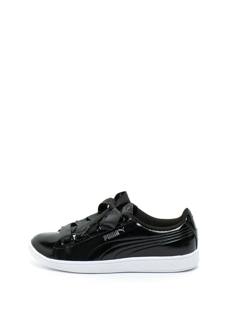 Pantofi sport de piele sintetica Vikky Ribbon de la Puma