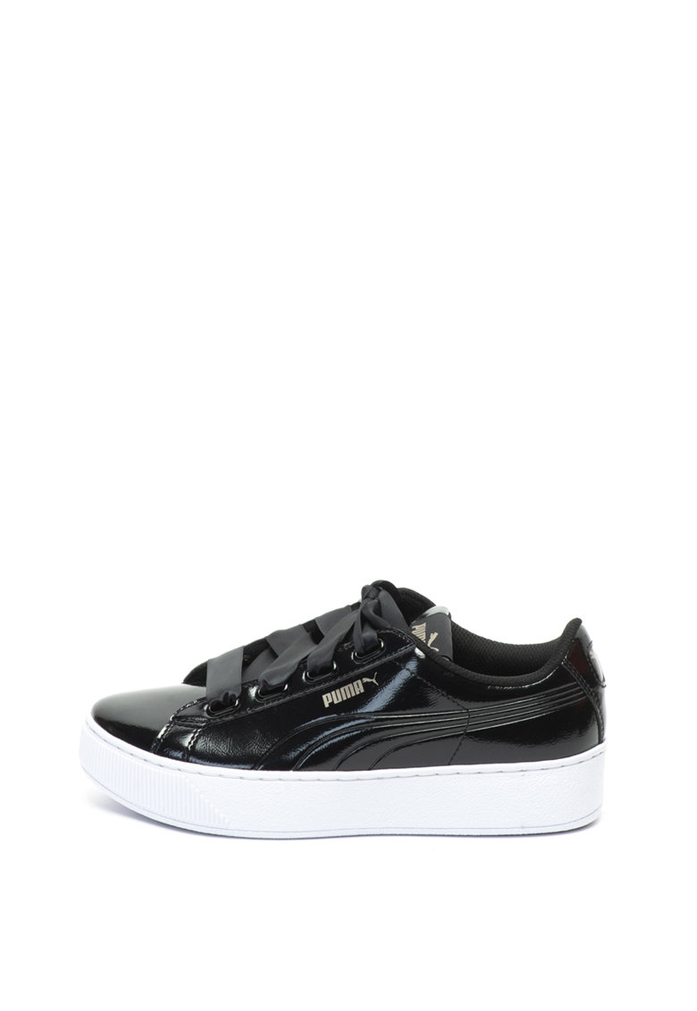 Puma Pantofi sport flatform cu aspect lacuit Vikky