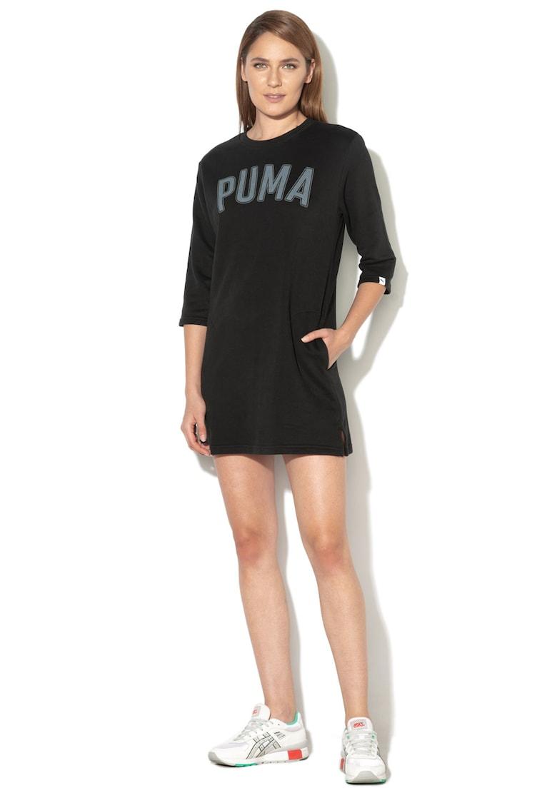 Puma Rochie cu maneci 3/4 si imprimeu logo Athletic
