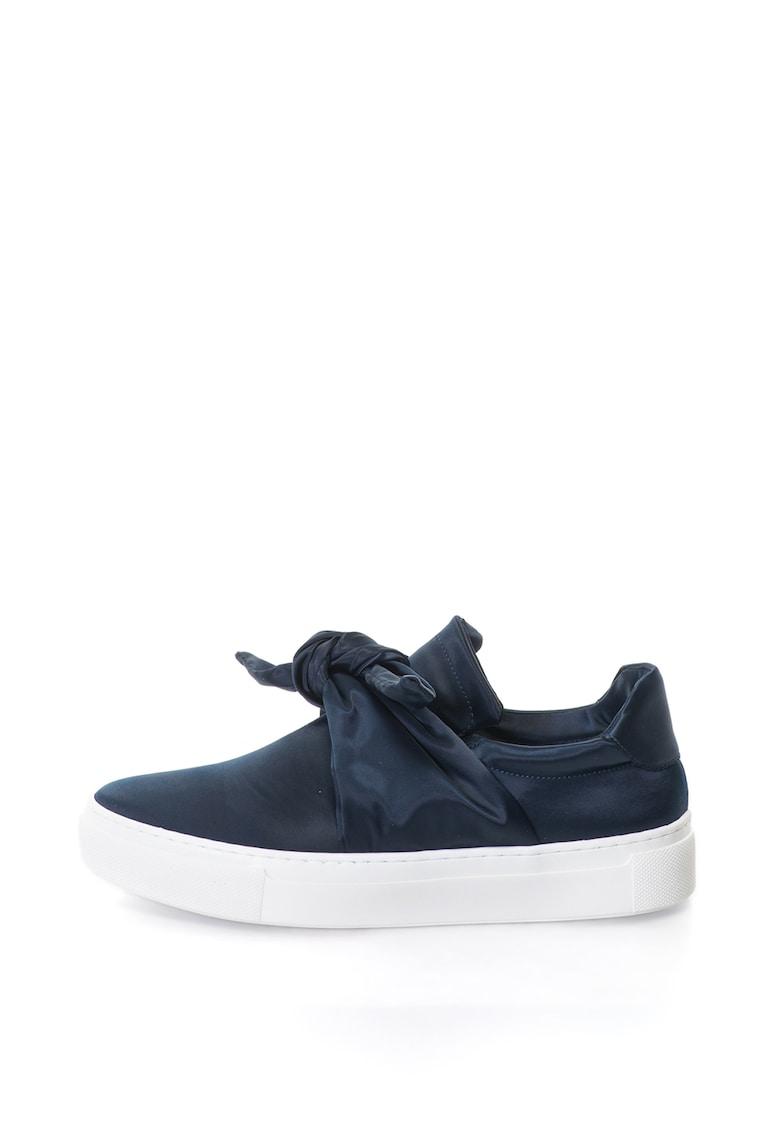 Pantofi sport slip-on de satin cu detaliu funda