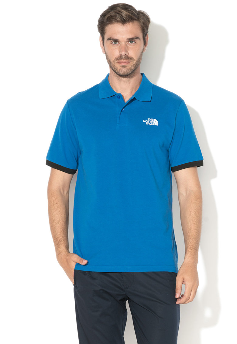 The North Face Tricou polo din pique cu logo brodat