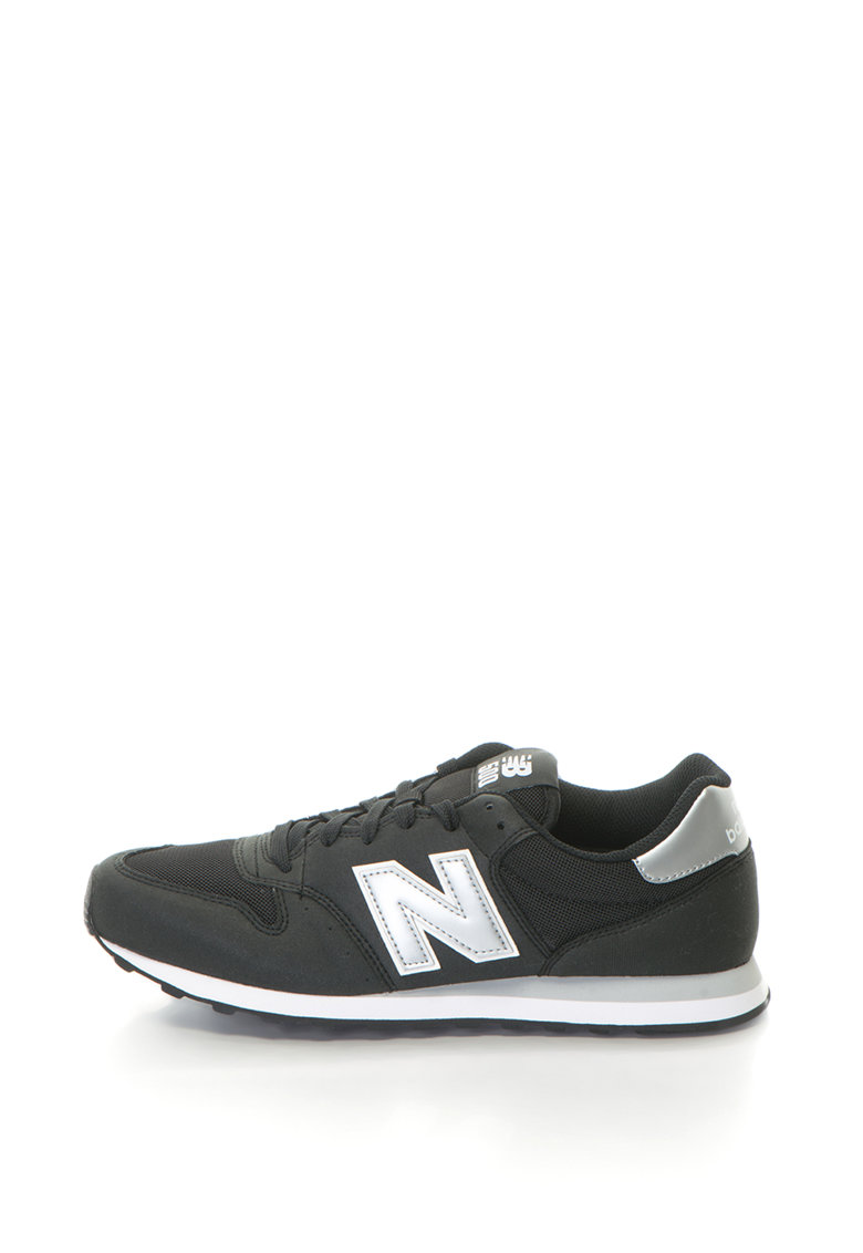 New Balance Pantofi sport de piele intoarsa sintetica cu logo 500