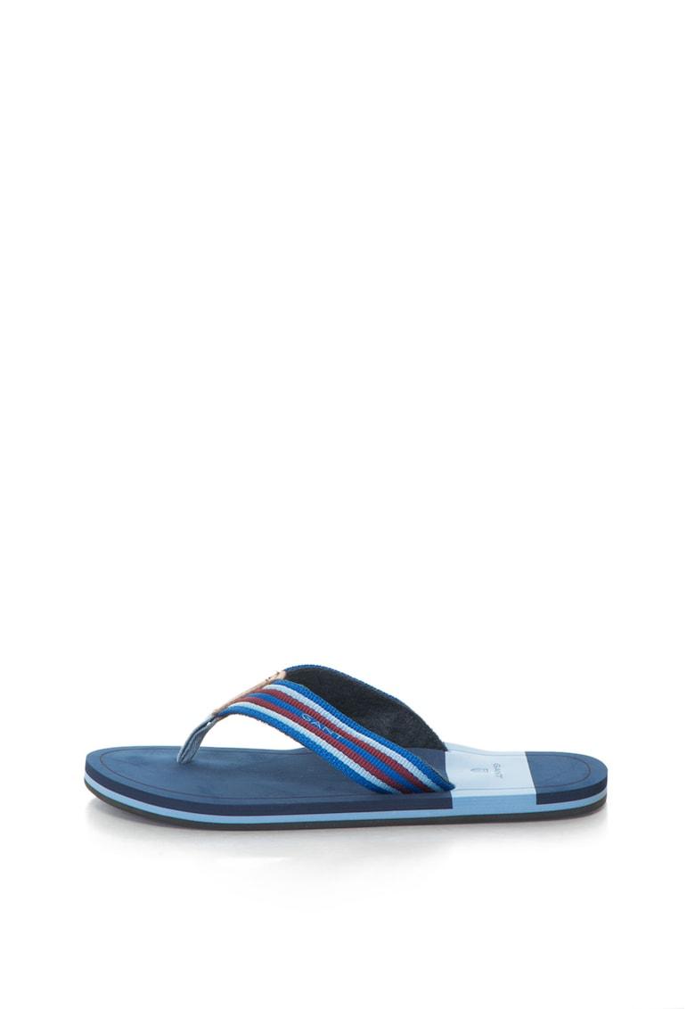 Gant Papuci flip-flop cu insertii de piele BREEZE