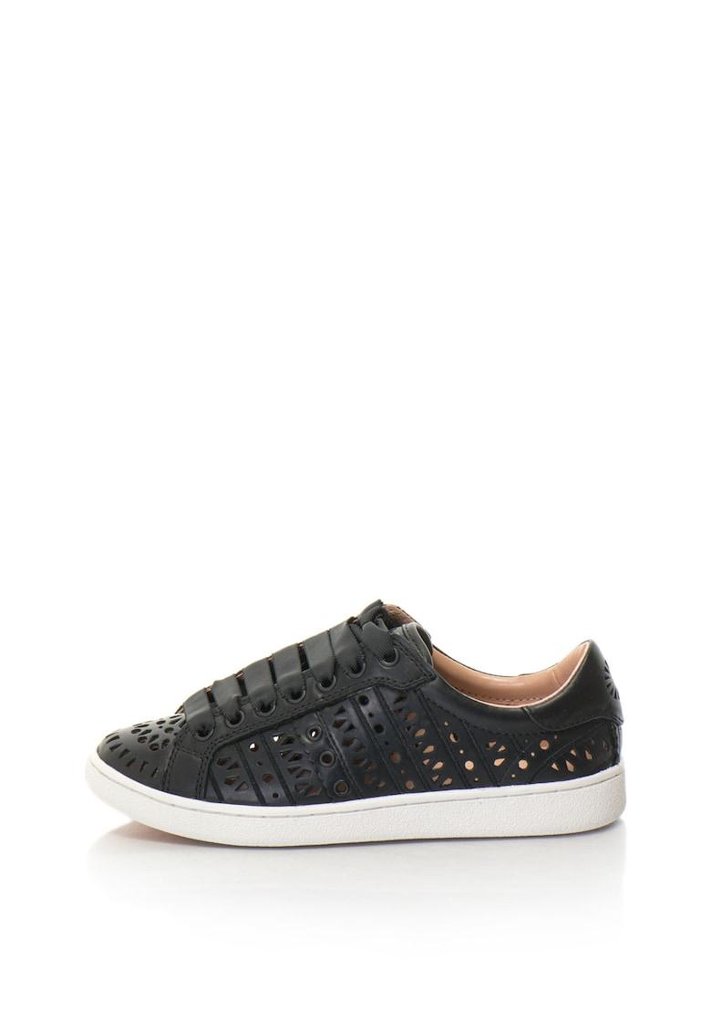 UGG Pantofi sport din piele cu aspect perforat Milo