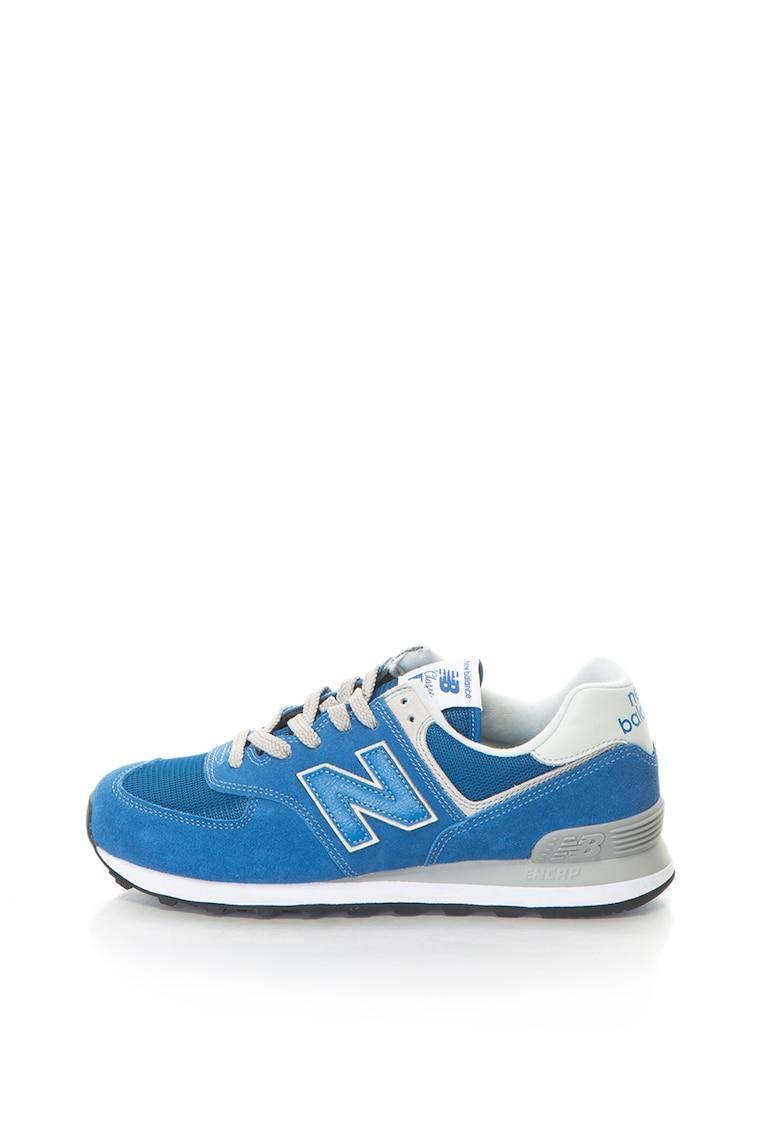 New Balance Pantofi sport de piele intoarsa cu aplicatie logo 574 Classic