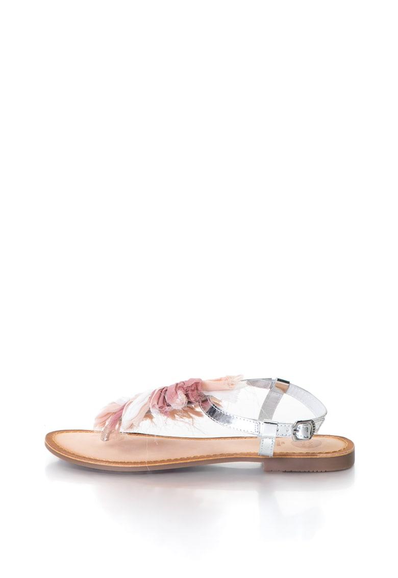Gioseppo Sandale de piele decorate cu canafi