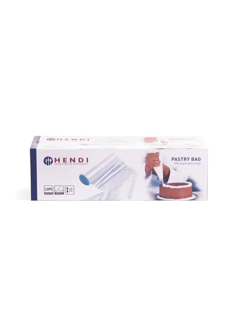 Pungi patiserie  potrivite pentru preparare calda si rece - set 100 buc. - polietilena - 53x28 -5 cm