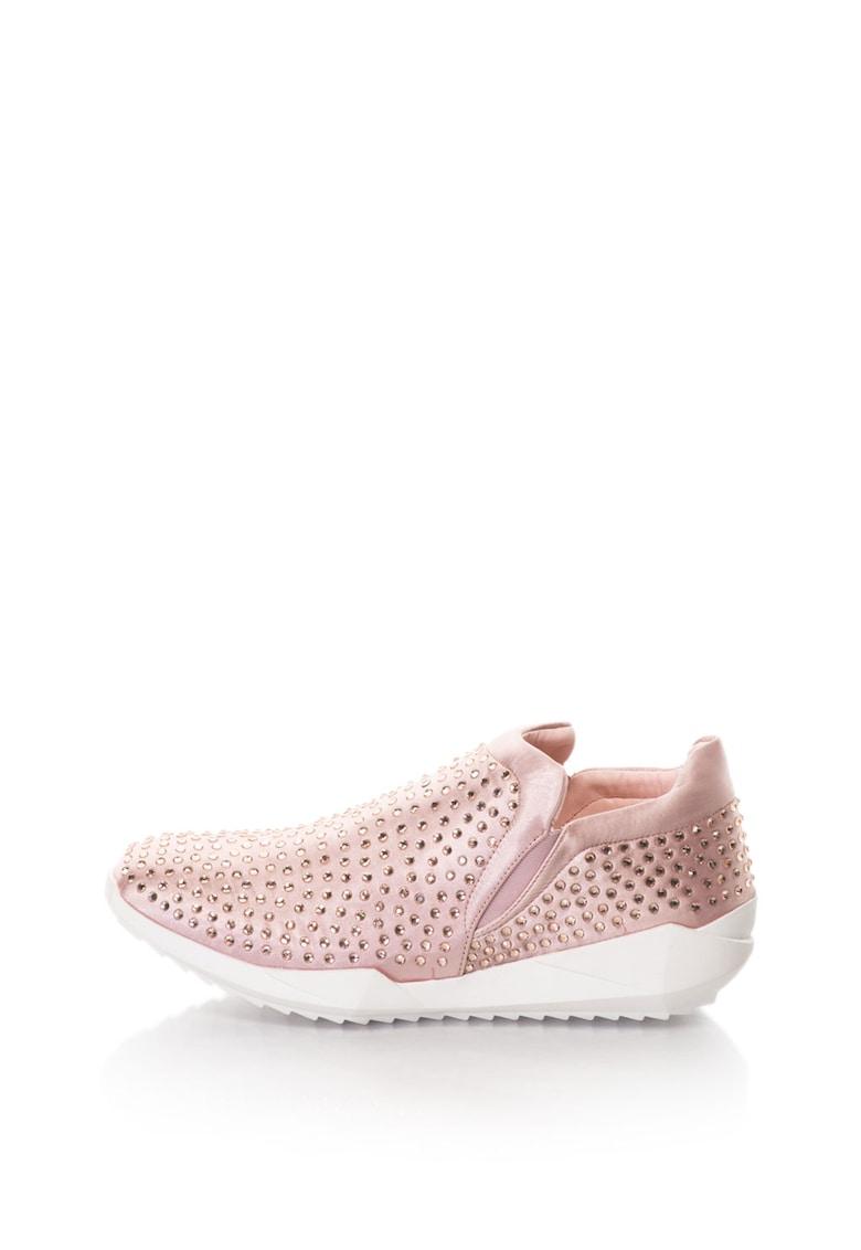 Oakoui Pantofi sport slip-on decorati cu strasuri Ester