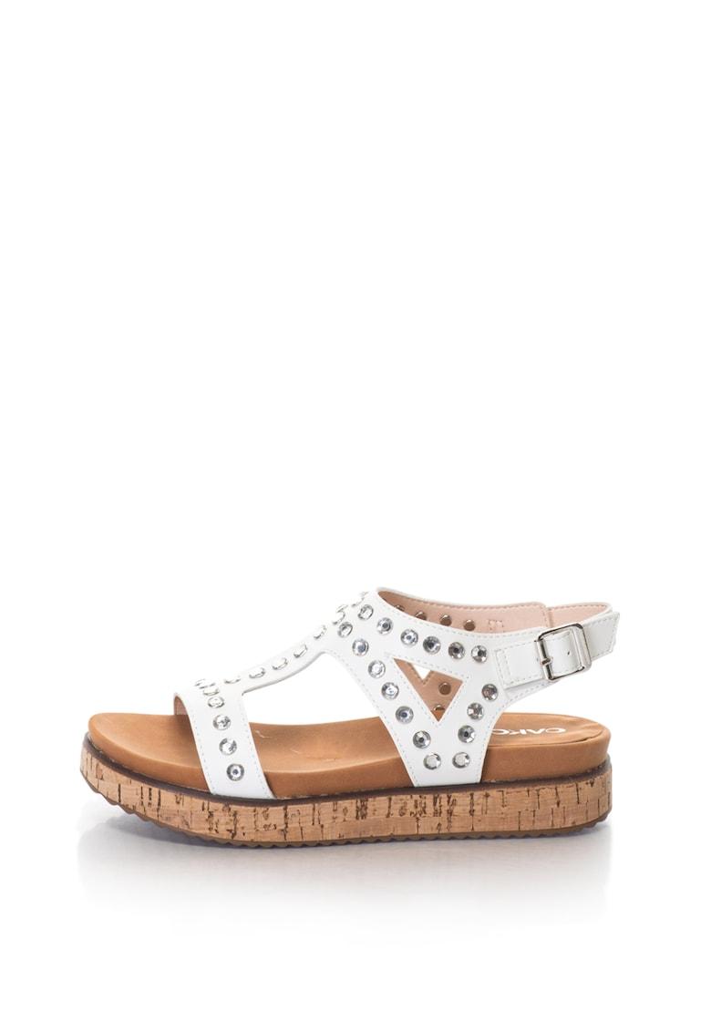Oakoui Sandale cu platforma si strasuri GIANNA