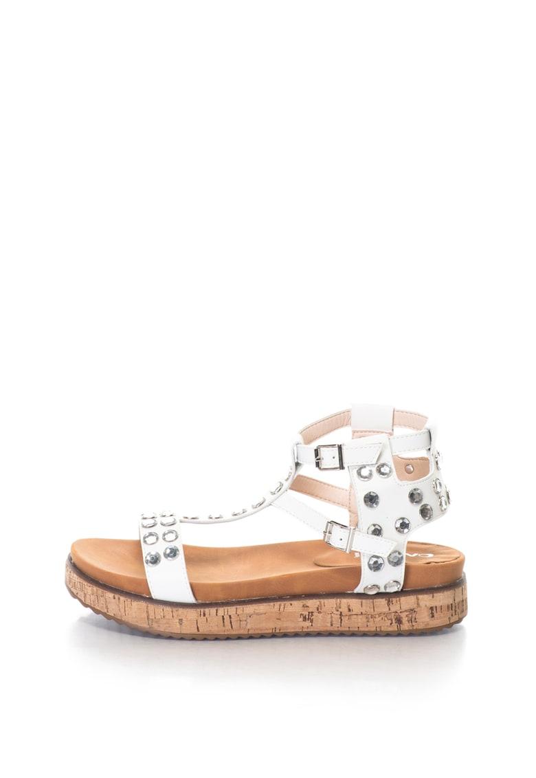 Sandale cu platforma si strasuri GIANNA de la Oakoui