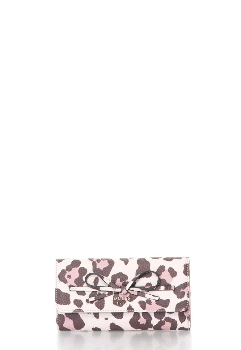 Portofel de piele sintetica cu animal print thumbnail