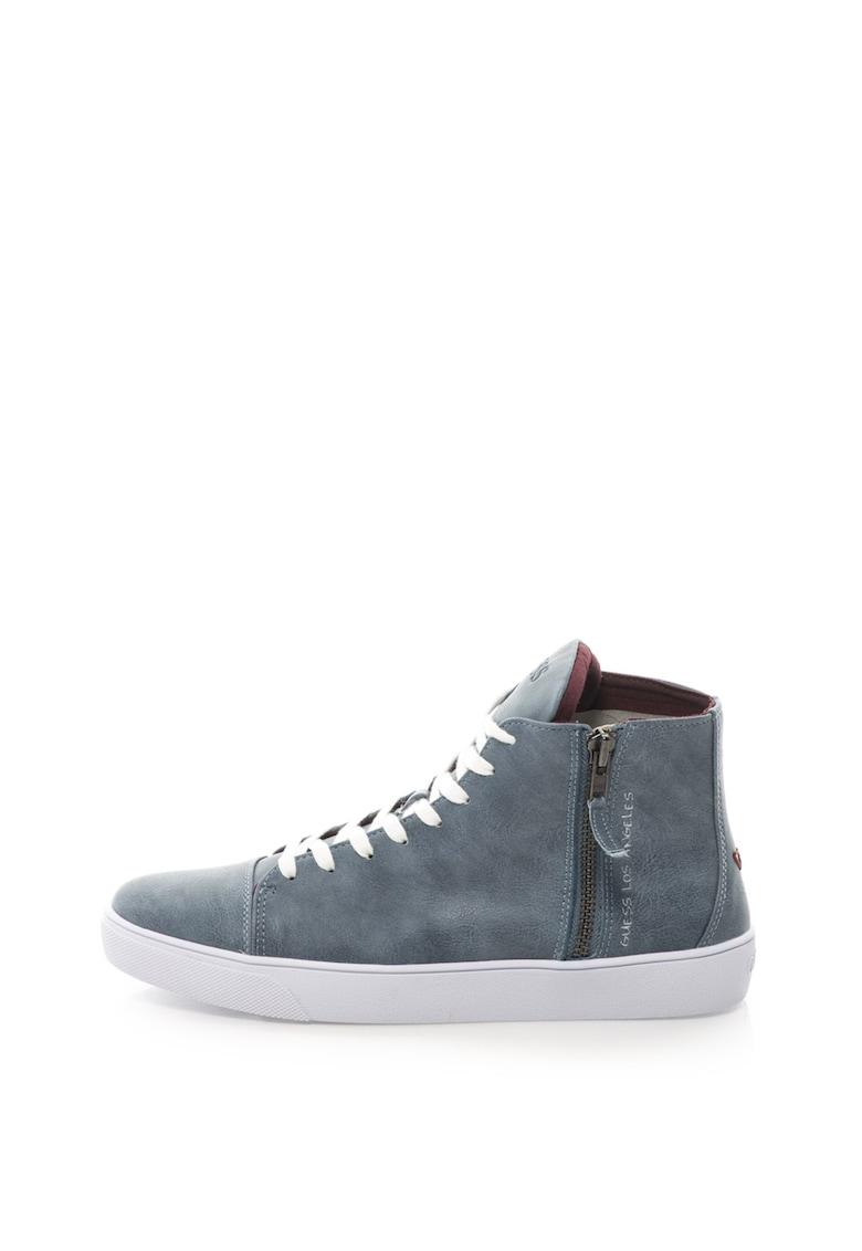 Guess Pantofi sport mid-high de piele sintetica cu fermoar lateral