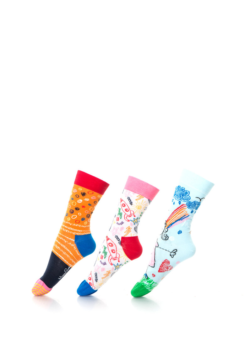 Set de sosete lungi Mother's Day Gift Box – 3 perechi de la Happy Socks