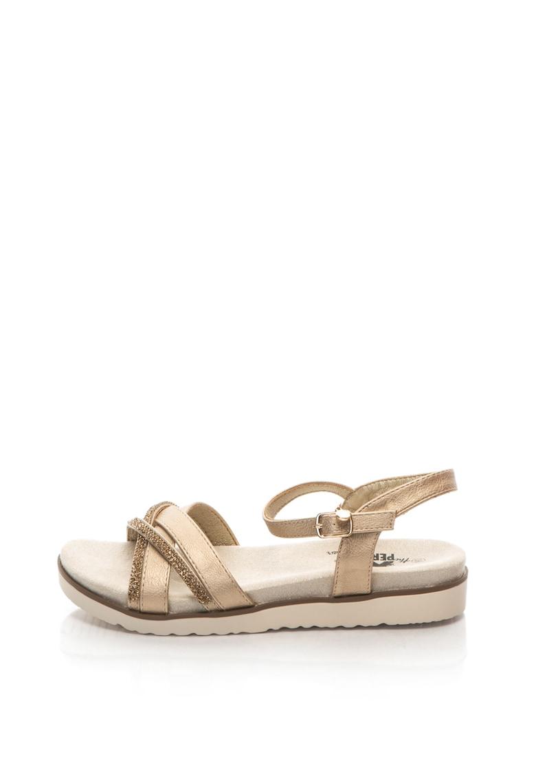 Xti Sandale de piele sintetica – decorate cu strasuri