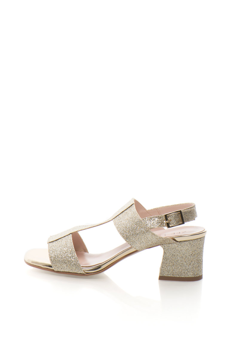 Zee Lane Collection Sandale slingback cu aspect stralucitor