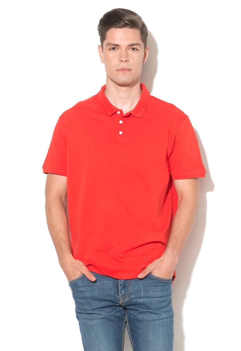 Tricou polo din pique Bărbați imagine