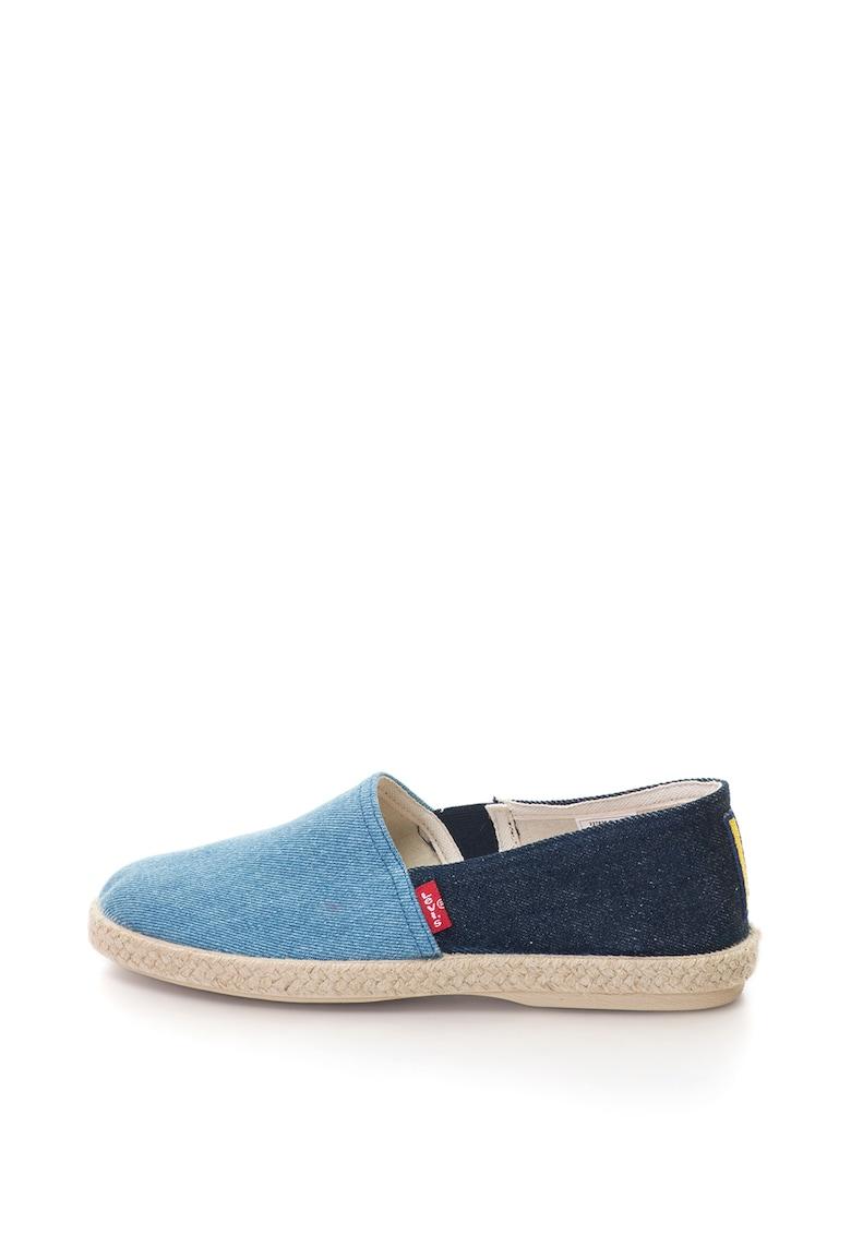 Pantofi slip-on din denim cu aplicatie – Bleumarin/Bleu – de la Levis
