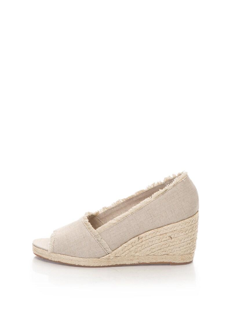 Pantofi wedge tip espadrile cu varf decupat Carmondy de la Lauren Ralph Lauren