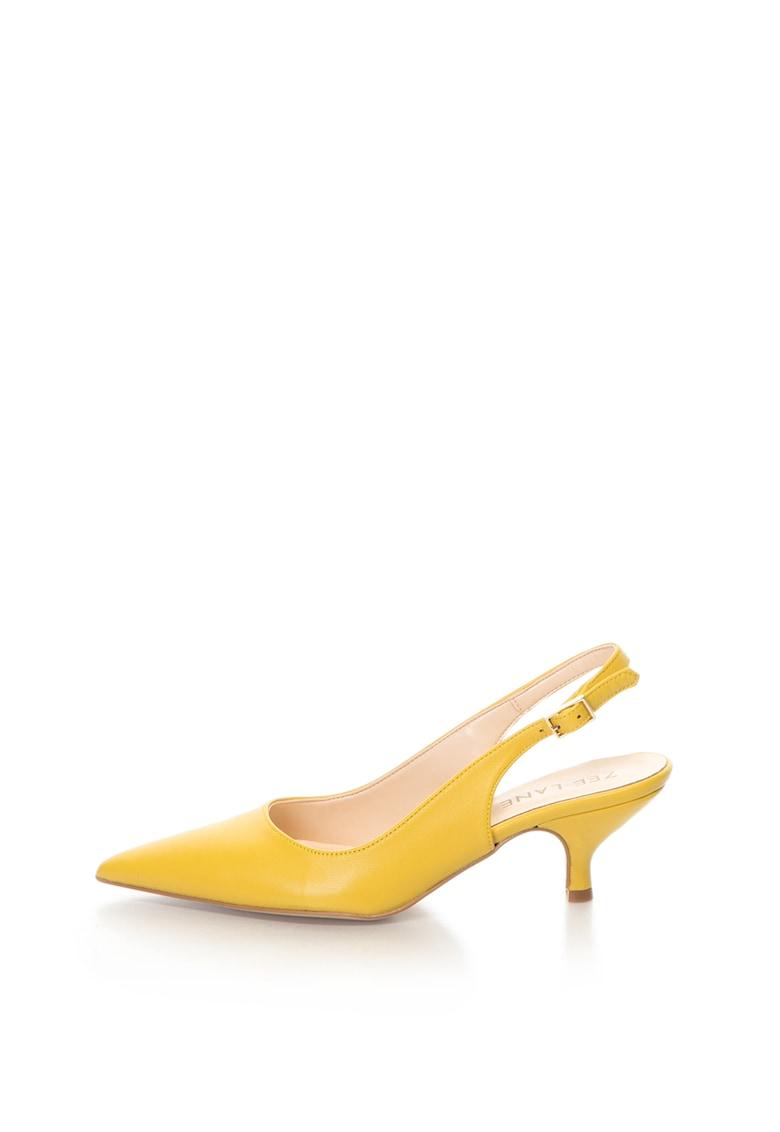 Zee Lane Pantofi slingback de piele sintetica – cu varf ascutit