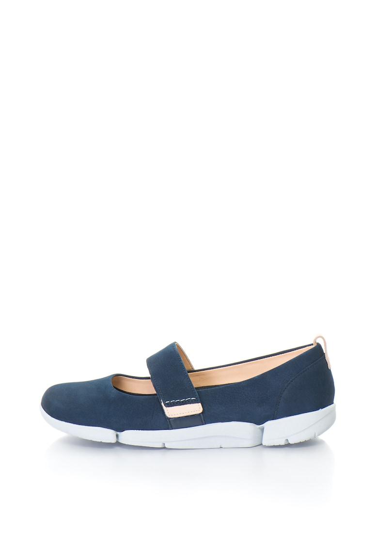 Clarks Pantofi Mary Jane de piele nabuc TRI CARRIE