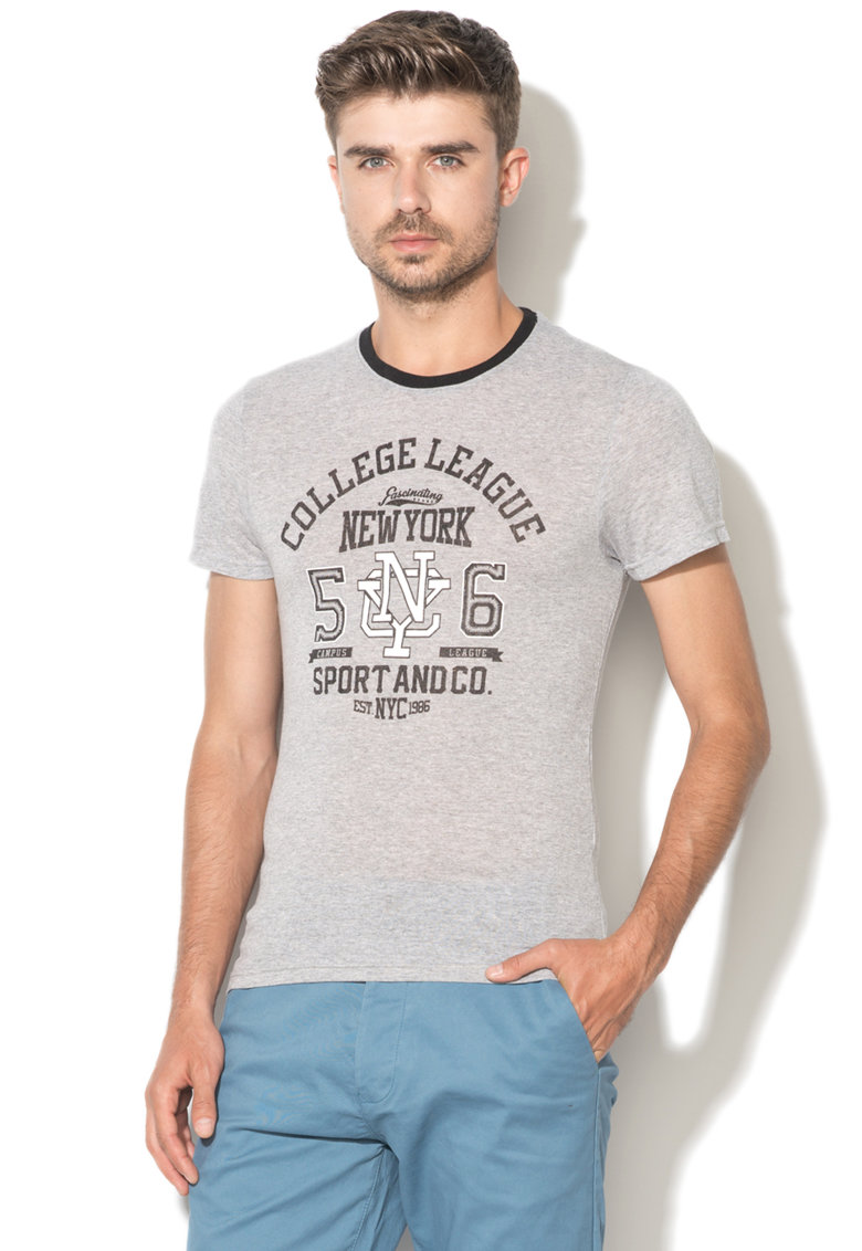 Tricou cu imprimeu text 1 Zee Lane