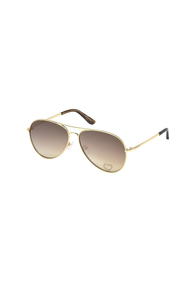 Ochelari de soare aviator 9 de la Guess