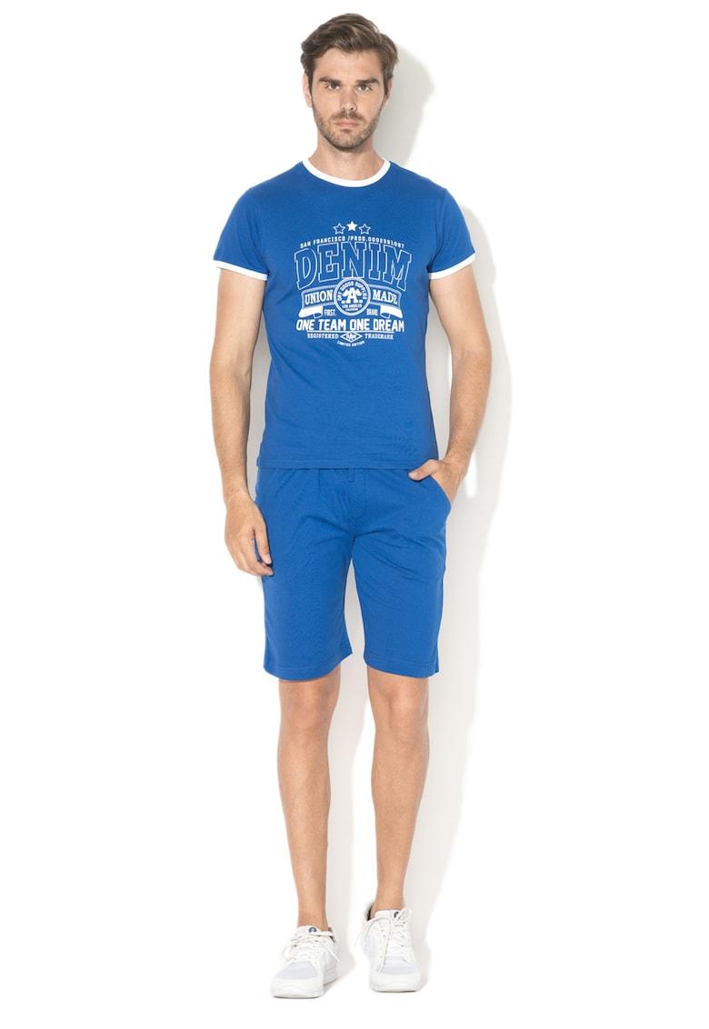 Set de bermude si tricou cu imprimeu de la Zee Lane