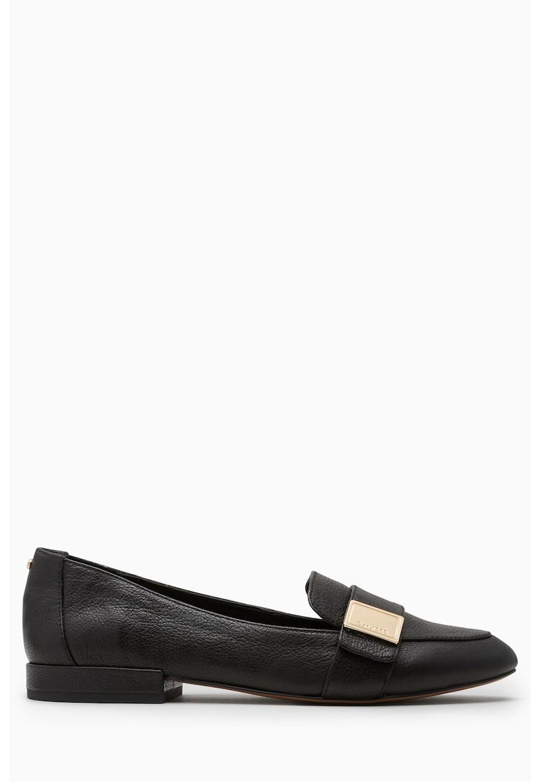 Pantofi loafer de piele cu varf migdalat de la NEXT