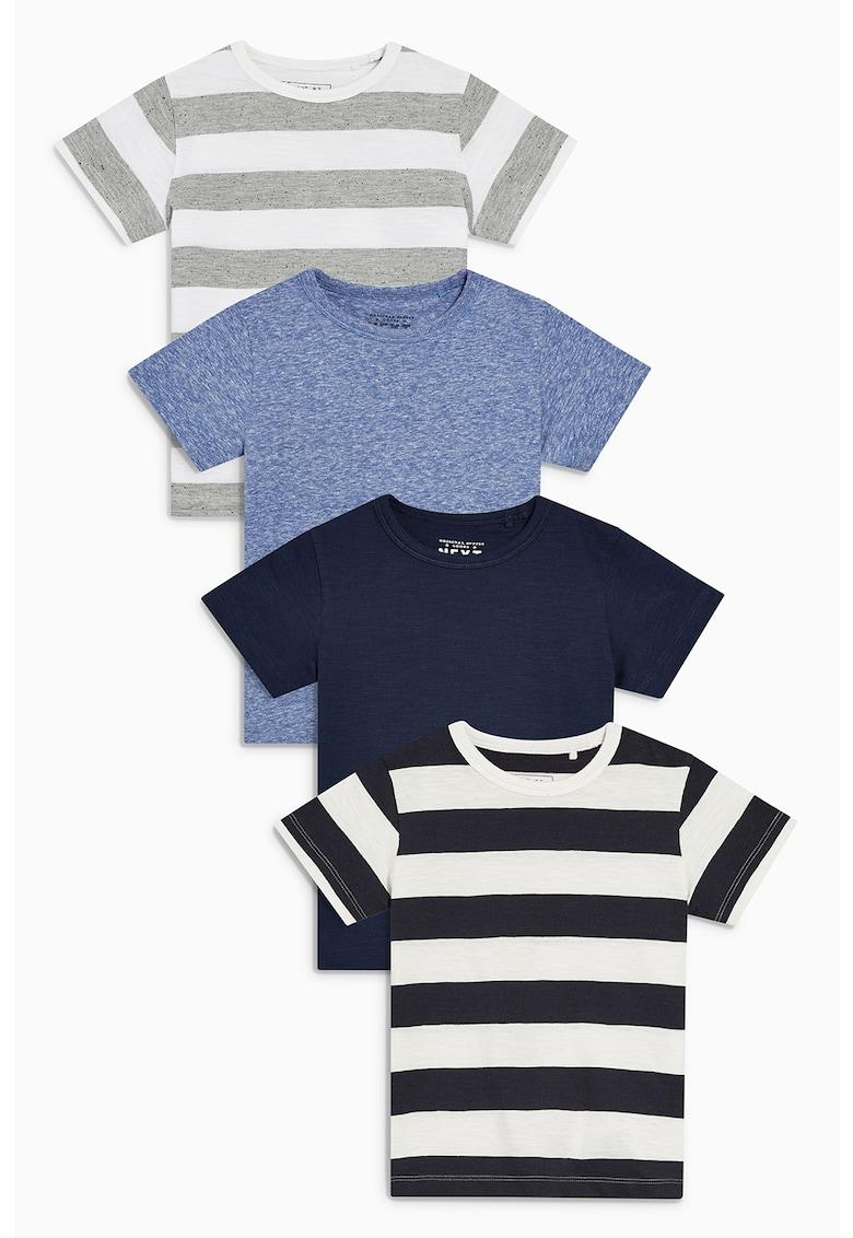 Set de tricouri cu decolteu rotund - 4 piese de la NEXT