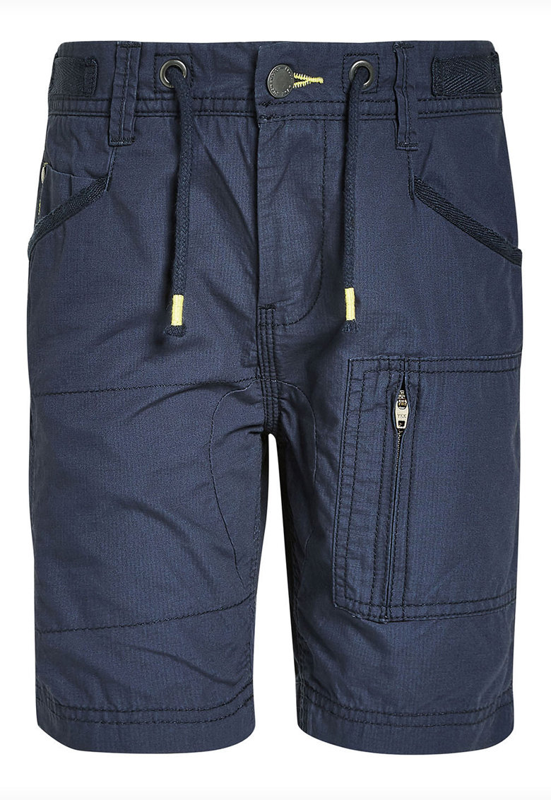 Pantaloni scurti cargo cu talie elastica