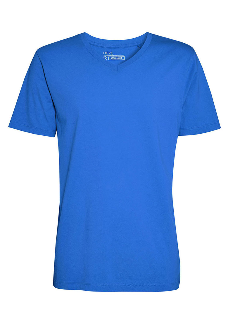 Tricou regular fit cu decolteu in V NEXT