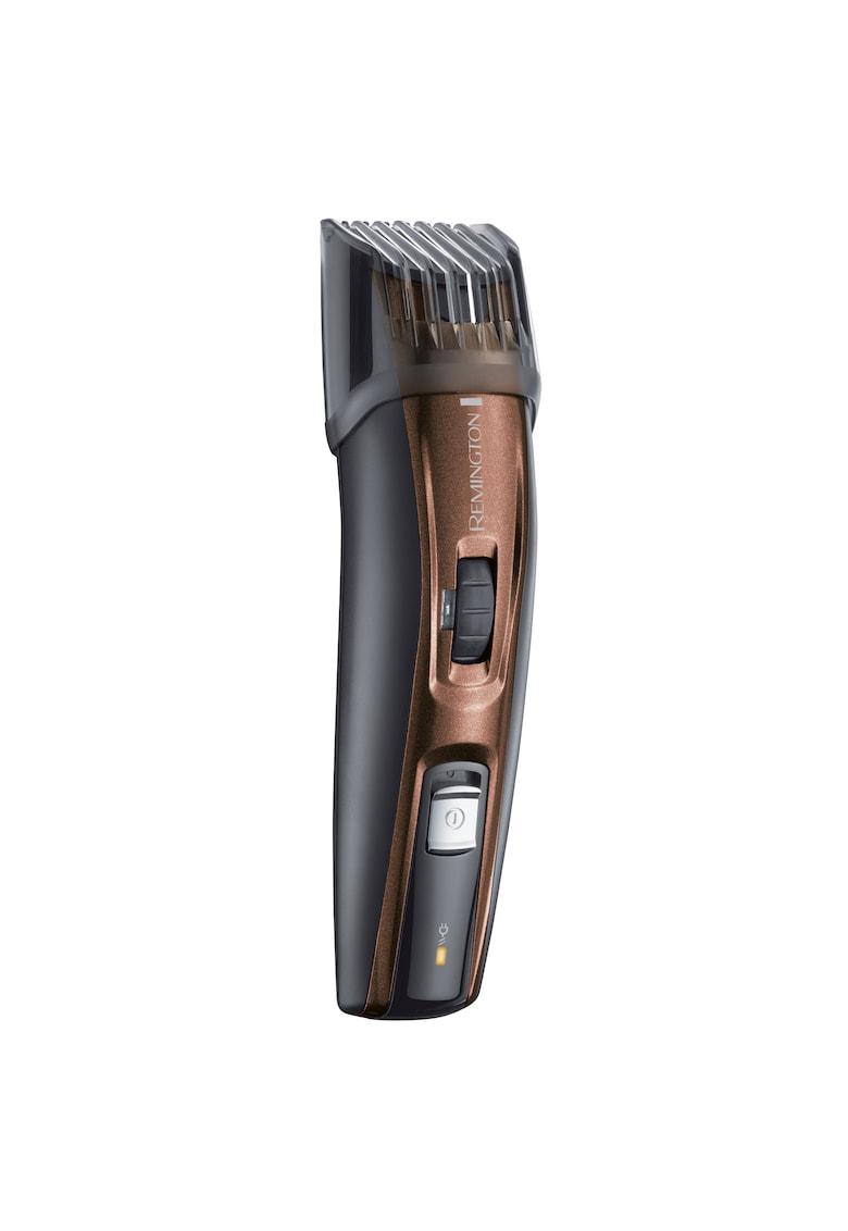 Aparat de tuns pentru barba si mustata - Trimmer - Acumulator - lame lavabile din titan - Negru/Maro imagine
