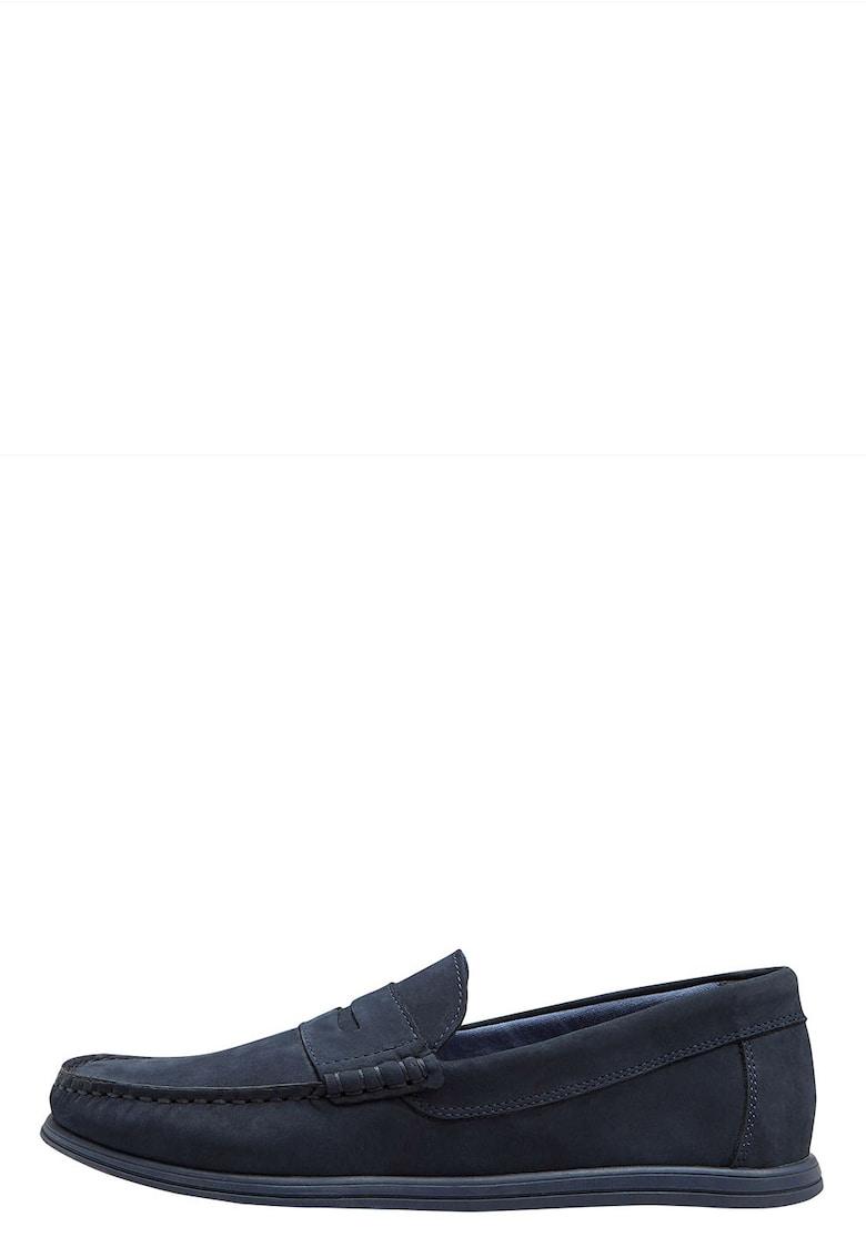 Pantofi loafer de piele nabuc NEXT