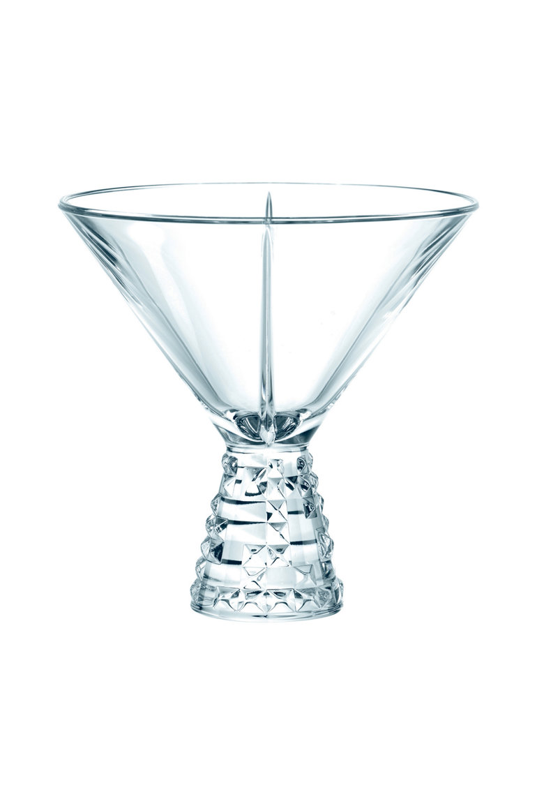 Set 2 pahare de cocktail  model Punk - sticla cristalina - 230 ml