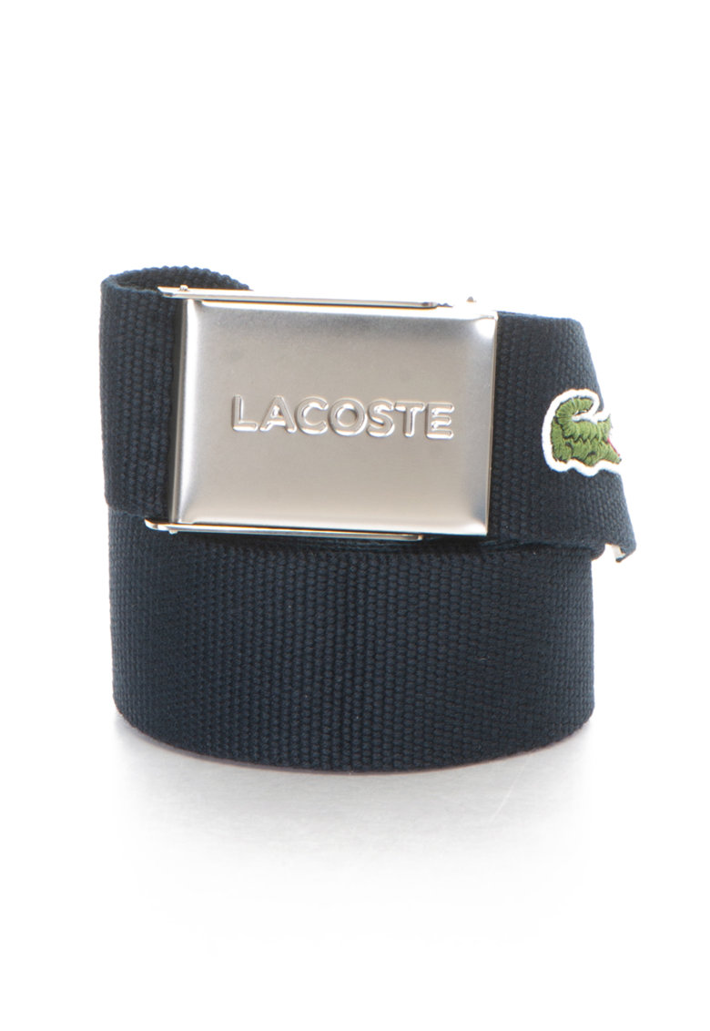 Curea cu aspect tesut si logo imagine fashiondays.ro Lacoste