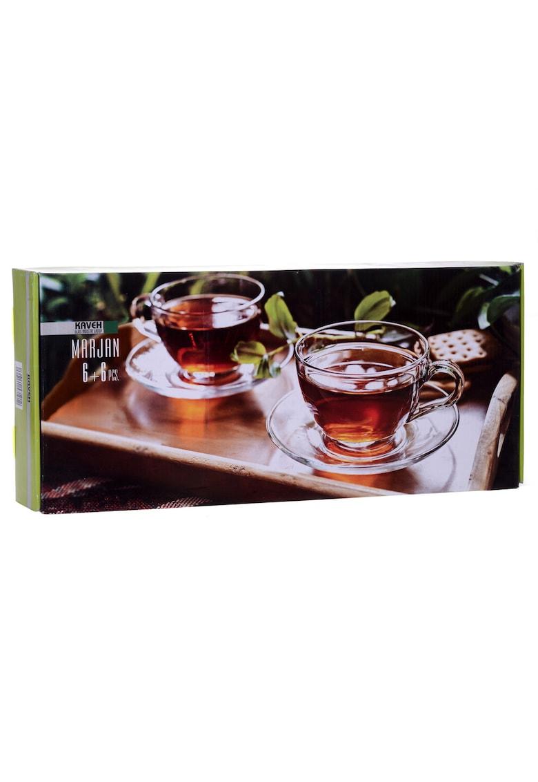 Set de cafea Marjan  12 piese - sticla de la Kaveh