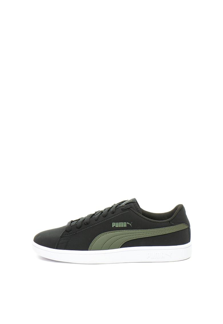 Puma Pantofi sport de piele nabuc cu garnitura contrastanta Smash v2