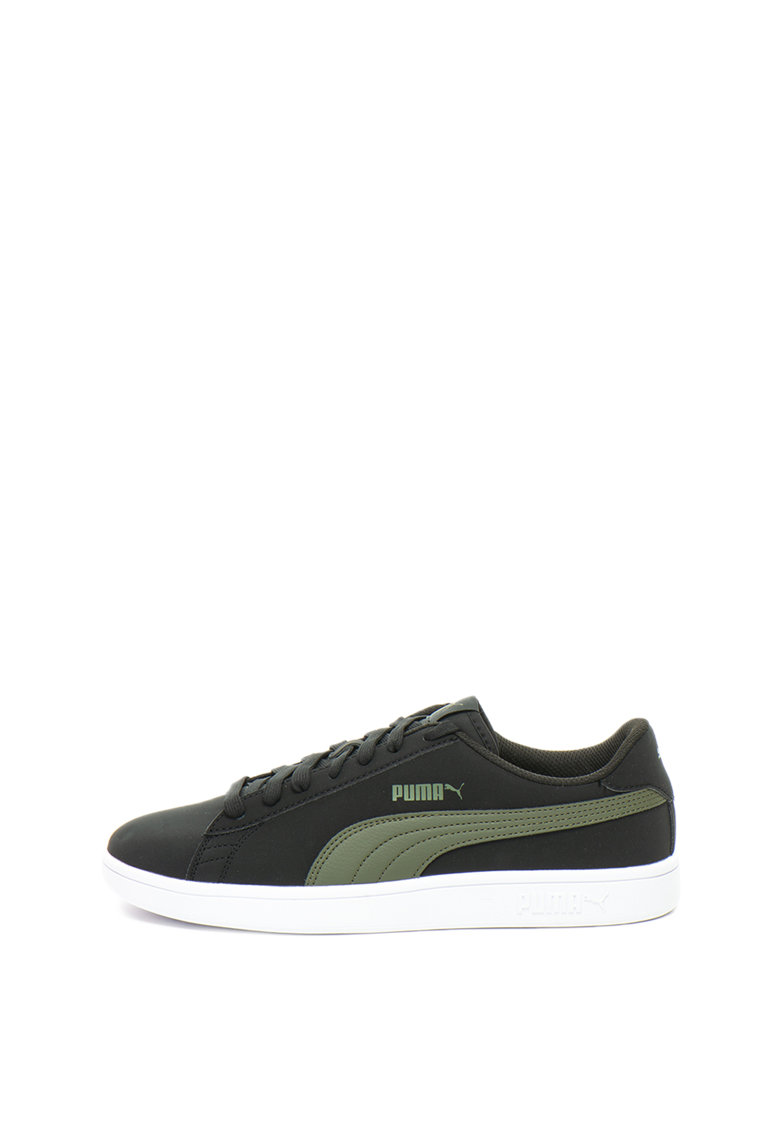 Pantofi sport de piele nabuc cu garnitura contrastanta Smash v2 de la Puma