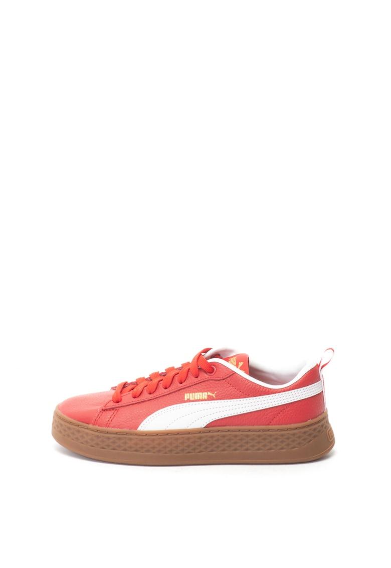 Puma Pantofi sport flatform de piele Smash