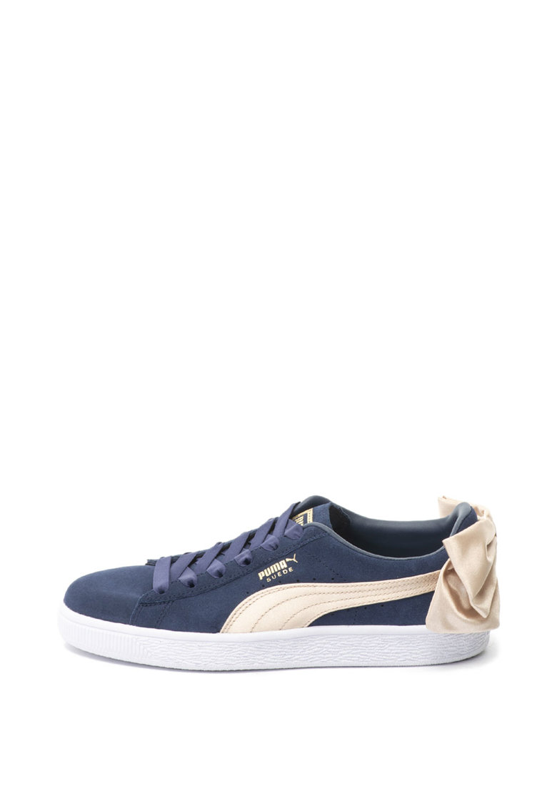 Puma Pantofi sport de piele intoarsa Bow Varsity