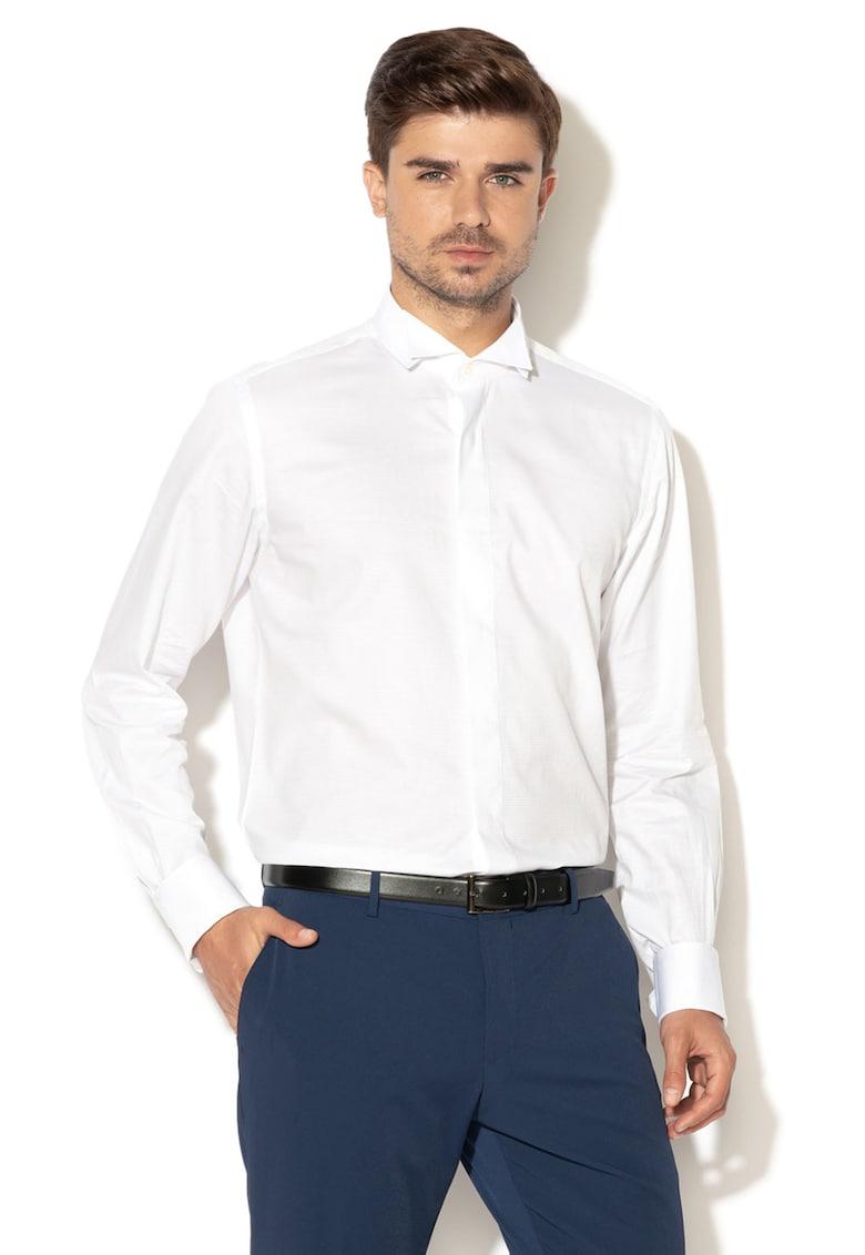 Camasa eleganta cu mansete adecvate pentru butoni de la Zee Lane Collection