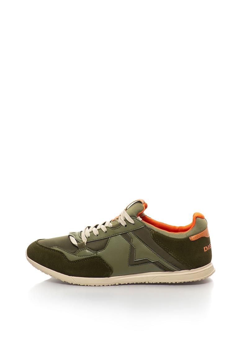 Pantofi sport slip-on cu garnituri de piele intoarsa - Furyy