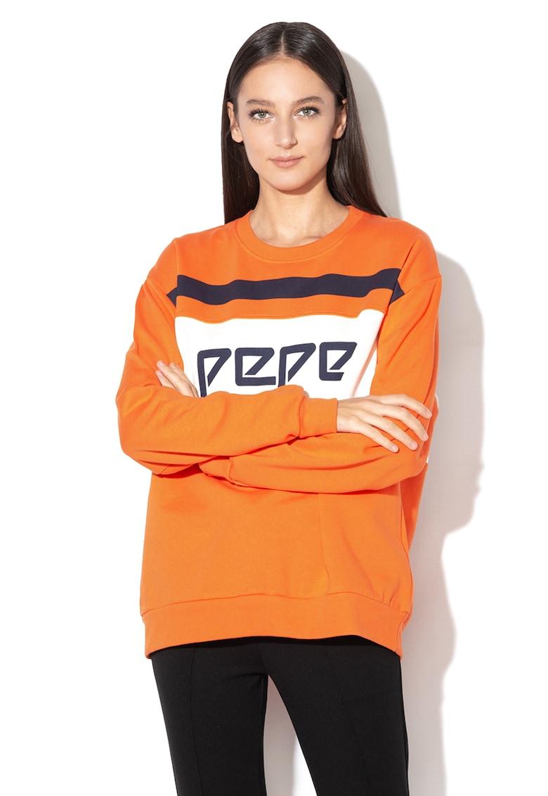Bluza sport cu text Frankie de la Pepe Jeans London