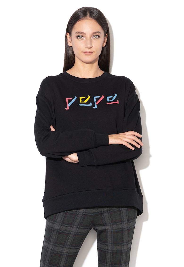 Bluza sport cu imprimeu logo Robin