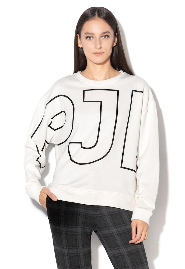 Bluza sport cu decolteu la baza gatului si logo Cecilia de la Pepe Jeans London